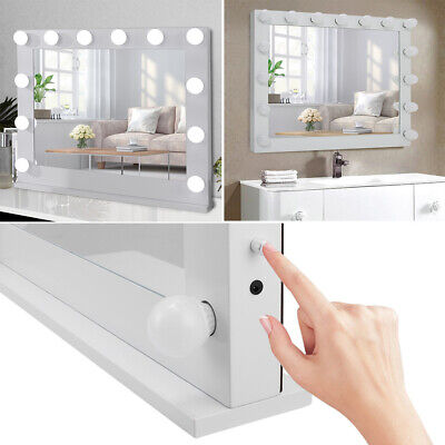 Large Bathroom Wall Mirror with LED Light Hollywood Bulbs Dressing Table Mirrors