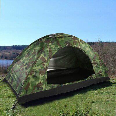 Tienda de Campaña Militar 4 Personas Impermeable Camping Acampada Camuflaje Caza