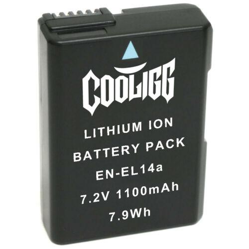 Cooligg Battery for Nikon EN-EL14a D3100 D3300 D3400 D5100 D5200 D5300 D5600