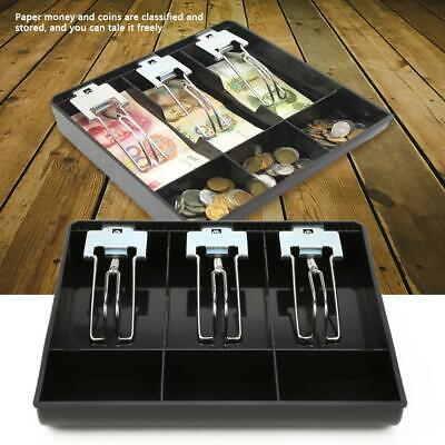 Cash Drawer Register Insert Tray Replacement Cashier Three Box With Metal Clip