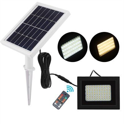 80 LED Solar Power Flood Light Outdoor Garden Path Lamp with Remote Control