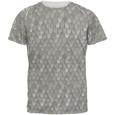 Halloween Steel Scale Mail Armor Costume Mens T Shirt