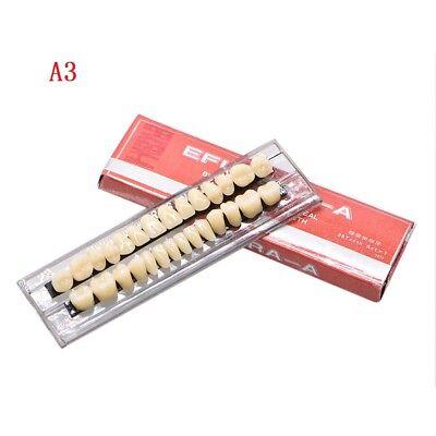 28pc 1set Denture Acrylic Resin Full Set Teeth Upper Lower Shade 23 A3 Dental