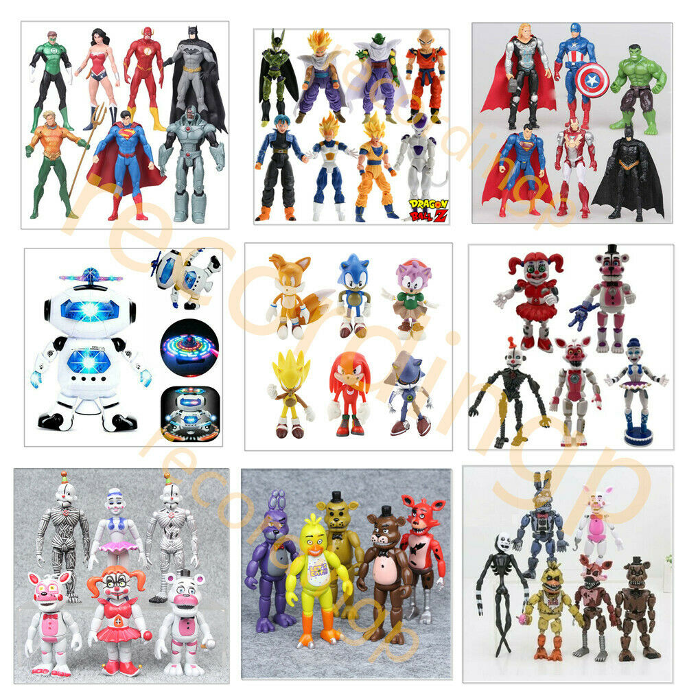 Justice League/Dragonball Z/The Avengers/FNAF/Sonic The Hedgehog Action Figures