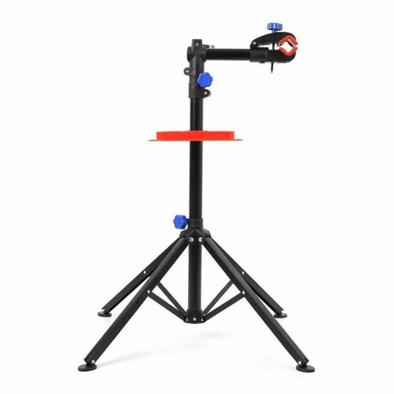 Heavy Duty Bike Repair Stand Adjustable Maintenance Folding Bike Rack +Tool Tray
