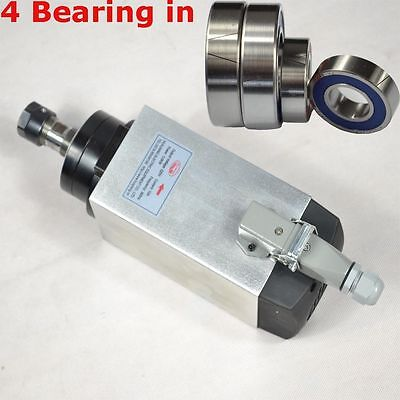 3kw Air-cooled Spindle Motor Engraving Milling Grind Square Motor Four Bearing