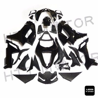Glossy Black ABS Plastic Fairings Bodywork for 07-08 Kawasaki Ninja ZX 6R 636