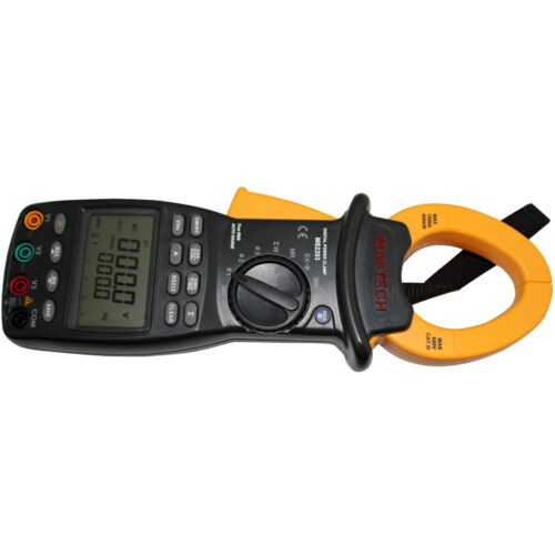 MASTECH 3-Phase LCD Professional High Sensitivity True-RMS Clamp Power Meter
