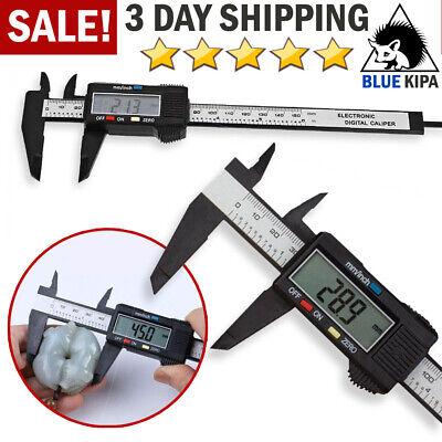 Digital Caliper Electronic Gauge Carbon Fiber Vernier Micrometer Ruler 150mm 6