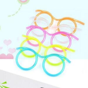 54c5dc4818 Novelty Flexible Soft Glasses Silly Drinking Straw Glasses For Kids Party  Fun FT