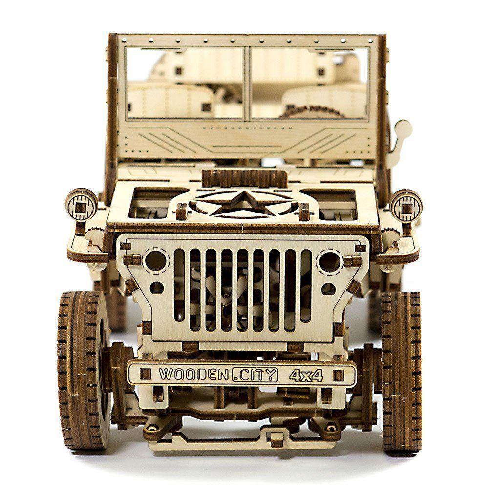 Wooden city 4x4 Jeep 3d Mechanical Model