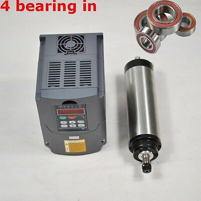 Cnc Milling 65mm Er11 1.5kw Water-cooled Spindle Motor And Vfd Drive Inverter