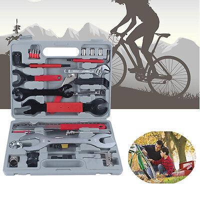 44tlg Fahrrad Werkzeugkoffer Werkzeugtasche Werkzeug Bike Reparatur Box Satz