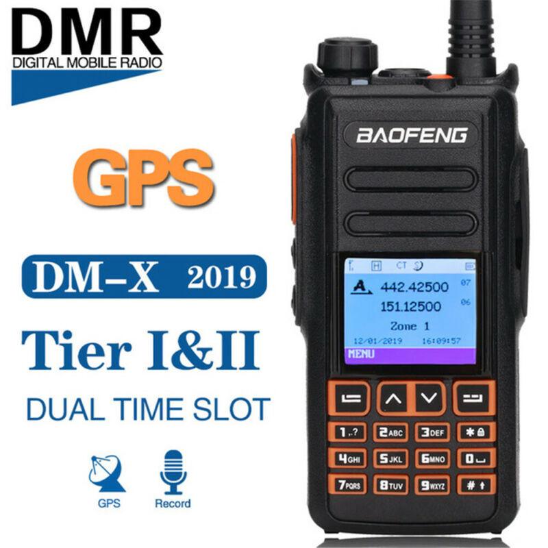 Baofeng DM-X GPS Digital/Analog Record 5W Dual Time Slot DMR Ham Two Way Radio