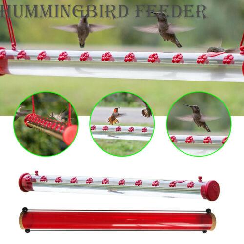 Hummingbird Feeder With Hole Birds Feeding Pipe Red Transparent Tube Outdoor US Bird & Wildlife Accessories
