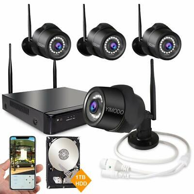Rraycom 1080P 4CH NVR 4 Wireless IP Video Camera Home Security System 1TB a04 - Ip Video Surveillance System