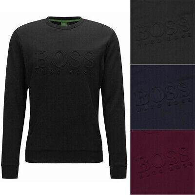 Hugo Boss Green Men's Salbo Slim Fit Crew Neck Sweatshirt Activewear