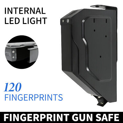 Biometric Fingerprint Portable Gun Pistol Safe Handgun Safe Lock Box Security