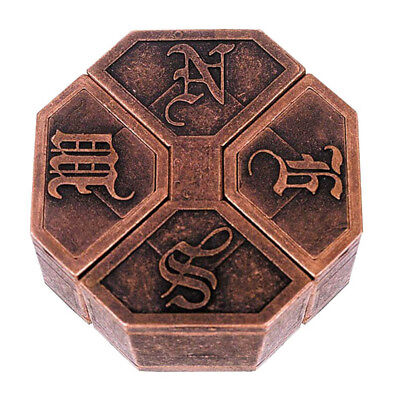Vintage Metal Cast Magic Puzzle Box Lock Toy IQ EQ Mind Brain Teaser Kids Gift (Magic Metal Puzzles)