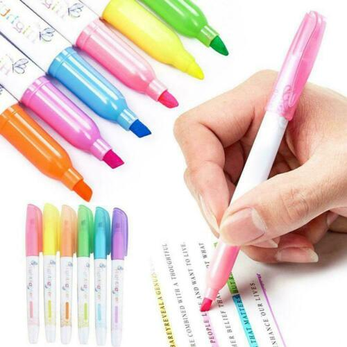 6 colors Gel Bible Highlighter Colored Markers Study School