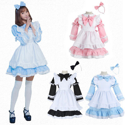 Alice in Wonderland Inspired Maid Cosplay Party Costume Dress For Women Kid Girl - Alice In Wonderland Dress For Kids