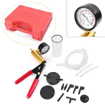 Automotive Hand Held Vacuum Pump Tester W/ Brake Fluid Bleeder Bleeding Test Kit ()