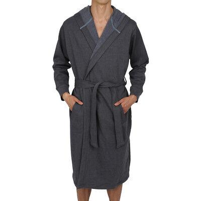 Men's Cotton Hooded Robe-Bathrobe-Thick ( Sweatshirt  Style Fabric ) USA Seller](Mens Hooded Bathrobe)
