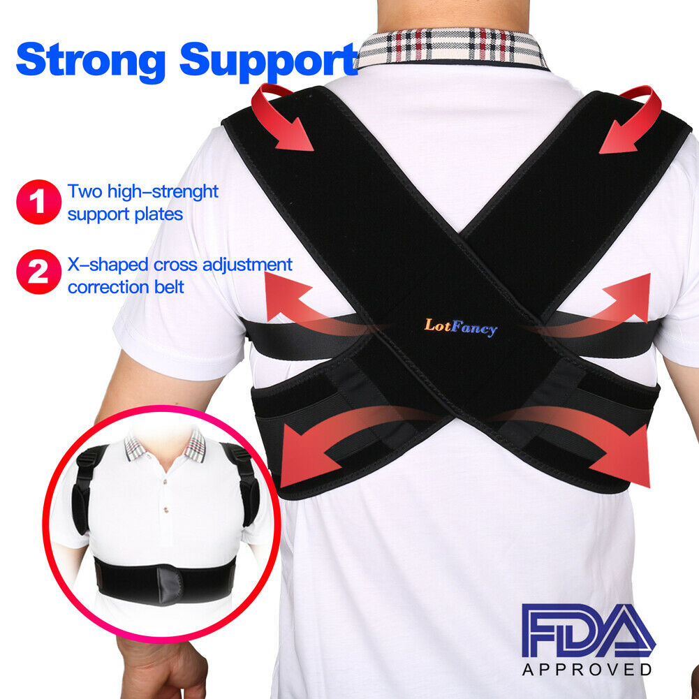 Posture Corrector Back Shoulder Support Brace Belt Therapy A