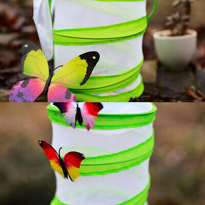 Insect Cage Foldable Butterfly Habitat Mesh Transparent Surface Portable Zipper Pet Supplies