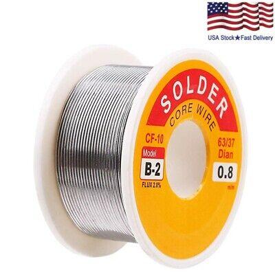 63-37 Tin Lead Rosin Core Solder Wire Soldering Sn60 Pb40 Flux .0310.8mm 3.5oz