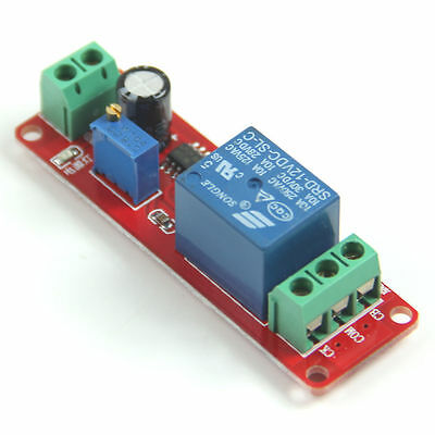 1x Delay Timer Switch DC 12V Adjustable Module 0 to 10 Second New On Off fu