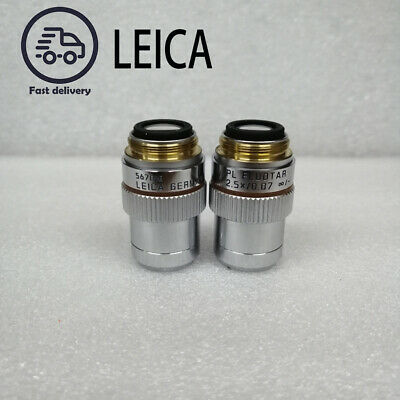 Leica Microscope Objectives Leica Pl Fluotar 2.5x0.07 - 2.5