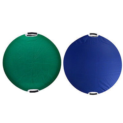 Neewer 110x110cm Reflective fabric Disc for Lighting Reflector Board Blue/Green