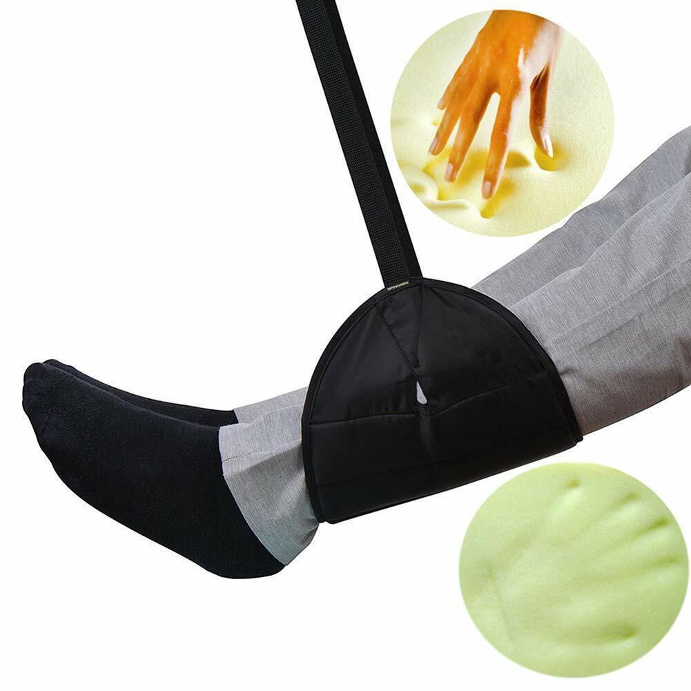 Comfy Hanger Travel Airplane Office Footrest Hammock Foot Adjustable Memory Foam