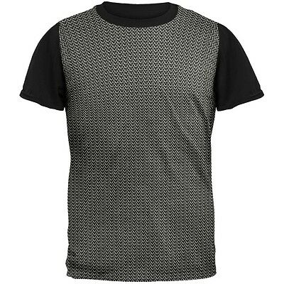 Costume Black Adult T-shirt - Chainmail Costume Adult Black Back T-Shirt