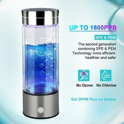 1600PPB Hydrogen Water Bottle Generator Water Bottle Cup Filter with PEM SPE