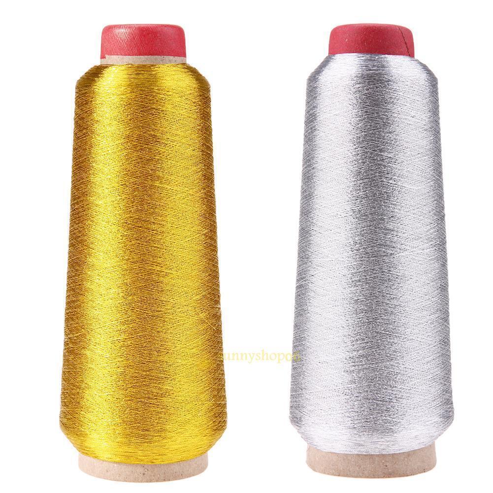 Crochet Metallic Sewing Thread Cross-stitch Yarn for Compute