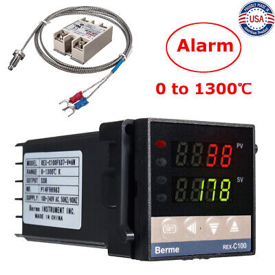 Ac 110v-240v 0-1300 Alarm Rex-c100 Digital Led Pid Temperature Controller Kits