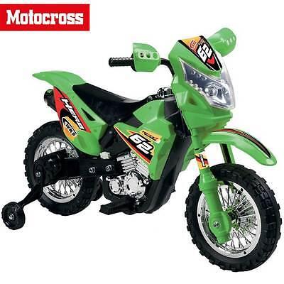 Moto Cross Elettrica per Bambini con Rotelle 6V Enduro Motocross Ricaricabile