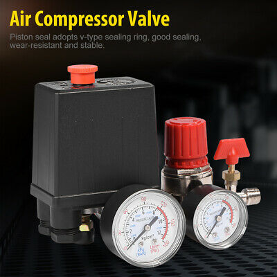 Air Compressor Valve Manifold Gauges Regulator Pressure Control Switch 2-g14