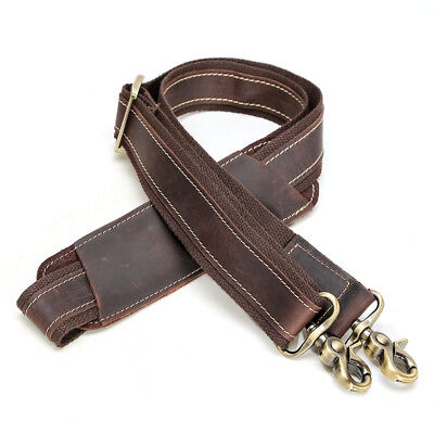 Vintage Leather Replacement Shoulder Strap For Briefcase Luggage Messenger Bag (Luggage Leather Messenger)