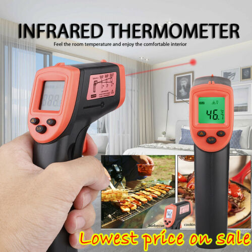 Portable Digital Thermometer Infrared Temperature Gun Non-Contact IR Laser Poin
