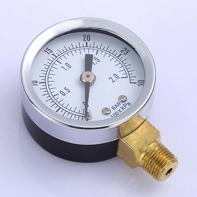 18 0-30 Psi 1.5 Face Npt Air Compressor Hydraulic Pressure Gauge Side Mount