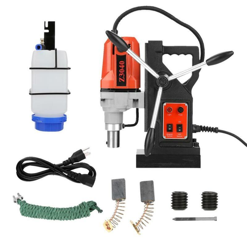 NWE 110V Magnetic Drill Press Metal Drill 550RPM High Power 9 pcs Kits 1100W USA