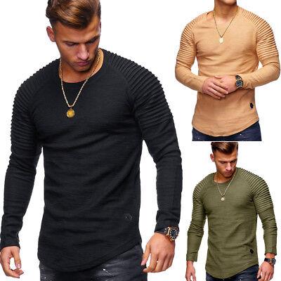 Behype Herren Pullover Biker Oversize Sweatshirt Longline T-Shirt Longsleeve NEU