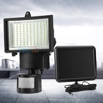 100 LED Garden Outdoor Solar Powerd Motion Sensor Light Security Yard Flood Lamp