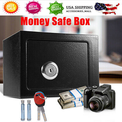 Safe Security Box Personal Strong Steel Key Operated Locking Safe Home Office US