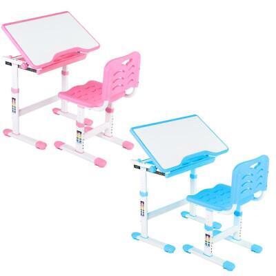 Kinderschreibtisch Jugendschreibtisch einstellbar Neigbar Schreibtisch mit Stuhl - Jugend-schreibtisch Stuhl