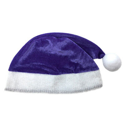 Child Purple Plush Santa Hat ~ FUN XMAS, CHRISTMAS, HOLIDAY, COSTUME, PARTY HAT - Purple Santa Costume