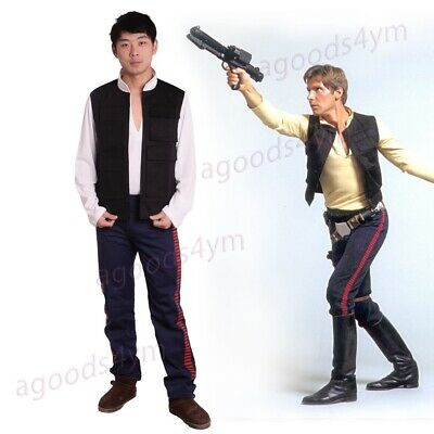 Han Solo Costume Shirt (1pc Star Wars A New Hope Han Solo Cosplay Costume Vest/Shirt/Pants Party)